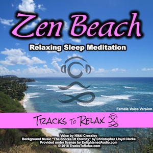 Zen Beach sleep meditation (female voice)
