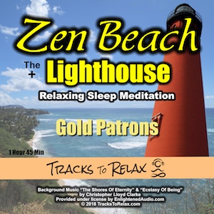 Zen Beach Lighthouse Sleep Meditation Combo