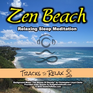 Zen Beach Sleep Meditation (male voice)