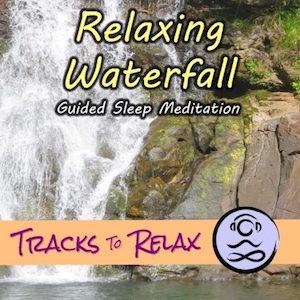 Relaxing waterfall nap meditation