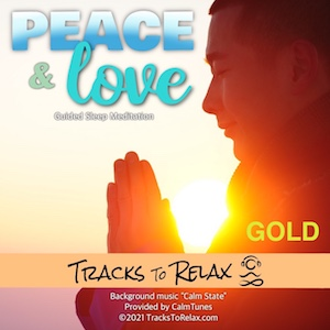 Peace and love gold sleep meditation